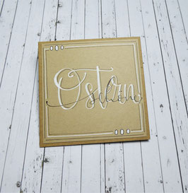 *schöne Ostern* Handlettering- Midicard  (Kraft)