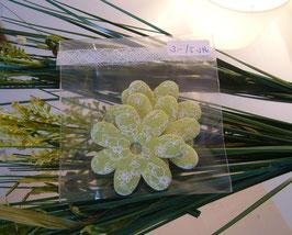 Stoffblumen Gross Grün (5 Stk.)
