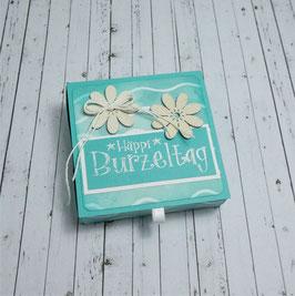 Geburtstag Teelichtbotschaft 4 - Häppi Burzeltag