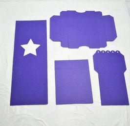 Papierrohling Teelichtbox Stern