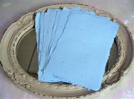 Handgeschöpftes Papier - Hellblau