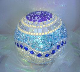 Mosaik Leuchtkugel 16 - Blau