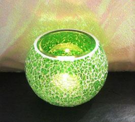 Mosaikwindlicht - Dunkelgrün hell