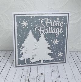 Weihnachtskarte 4 - Frohe Festtage