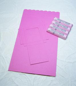 Süsse Karte Papierrohling - Schokoriegel