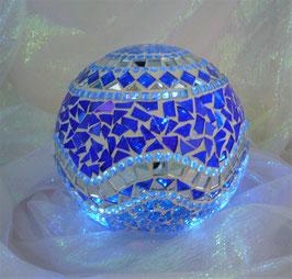 Mosaik Leuchtkugel 15 - Blau