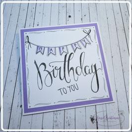Lettering Geburtstag 28
