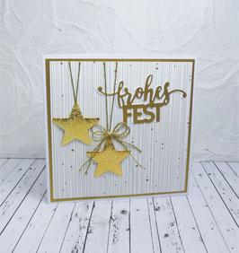 Weihnachtskarte 43 - frohes Fest
