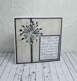 Trauerkarte 25 - Trösten ist eine Kunst...