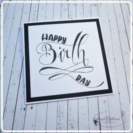 Lettering Geburtstag 25
