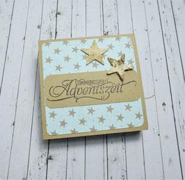 Advent Teelichtbotschaft 1 - Stimmungsvolle Adventszeit
