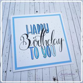 Lettering Geburtstag 15