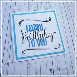 Lettering Geburtstag 21
