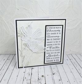 Trauerkarte 16 - Je schöner und voller die Erinnung...