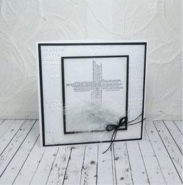 Trauerkarte 12 - Kreuz
