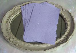 Handgeschöpftes Papier - Flieder