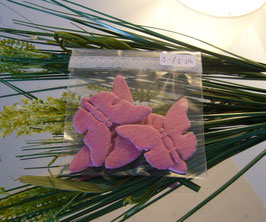 Stoffschmetterling Gross Rosa (5 Stk.)
