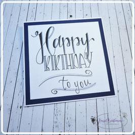 Lettering Geburtstag 24