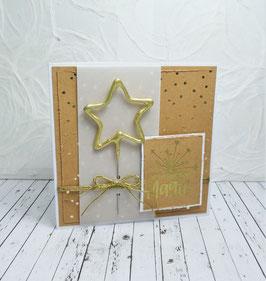 Wunderkerzenkarte Stern 5 - Für ein Fünkchen Magie