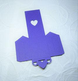 Papierrohling Seitenfaltverpackung klein - Herz