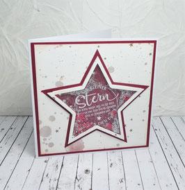 Schüttelkarte Spruch 6  - Ein kleiner Stern...