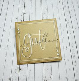 *alles Gute* Handlettering-Midicard (Kraft)