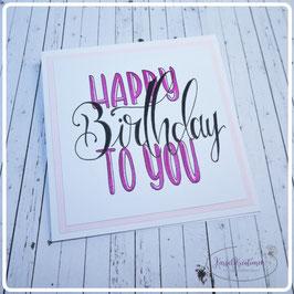 Lettering Geburtstag 20
