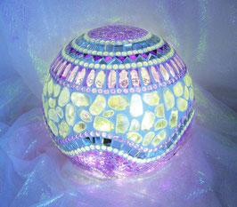 Mosaik Leuchtkugel 3 - Lila