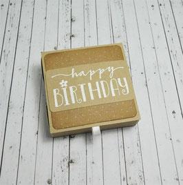 Geburtstag Teelichtbotschaft 2 - happy Birthday