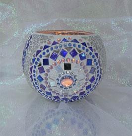 Mosaikwindlicht Rondelle 6 - Blau