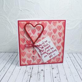 Wunderkerzenkarte Herz 2 - Liebe ist nur ein Wort...
