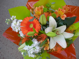 Bouquet bulle orange
