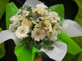 Bouquet bulle blanc / vert