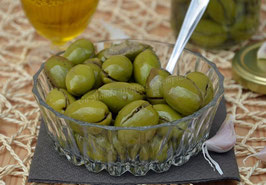 Olive schiacciate in salamoia