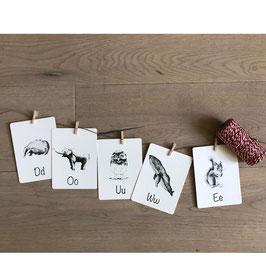 Letterkaart dieren