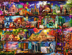 Le monde des livres  (puzzle 2000 pièces)
