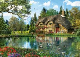 chaumière sur le lac -2016  (puzzle 2000 pièces)