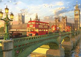 tableau romantique du pont de Westminster à Londres - 2016  (puzzle 2000 pièces)
