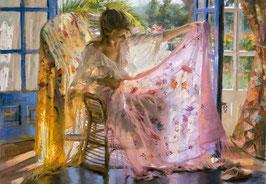 Châle Rose , Vicente Romero   (puzzle 2000 pièces)