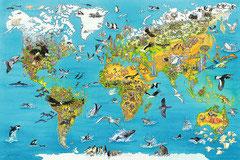 Carte du monde illustrée (5000 pièces)