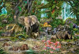 Jungle africaine  (puzzle 2000 pièces)