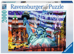 New York collage panorama  (puzzle 2000 pièces)