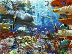Vie sous-marine (puzzle 3000 pièces)