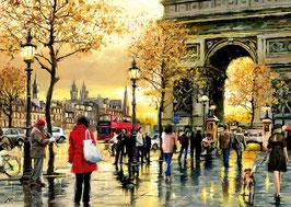 Tableau de l'Arc de Triomphe de Paris 2016   (puzzle 2000 pièces)