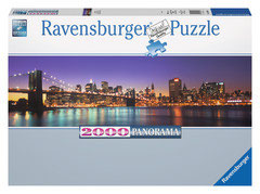 Photo New York City au soir panorama   (puzzle 2000 pièces)