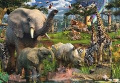 Les animaux s'abreuvent 2016   (puzzle 3000 pièces)