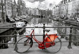 Amsterdam vélo rouge  (puzzle 3000 pièces)