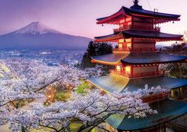 Photo couleur du mont Fuji au Japon   (puzzle 2000 pièces)