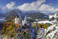 Neuschwanstein en hiver  (puzzle 3000 pièces)