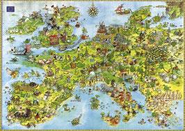 Degano, carte illustrée de l' Europe (puzzle 4000 pièces)